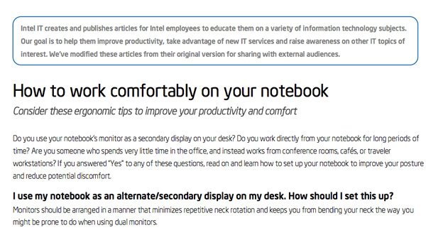 IT Best Practices: How to work more comfortably on your notebook